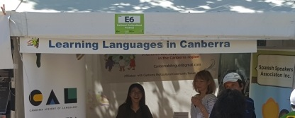 Learning Languages in Canberra stall at National Multicultural Festival